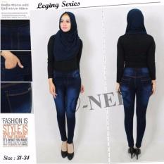 Review Master Jeans Celana Legging Jeans Wanita Navy Wish Di Dki Jakarta