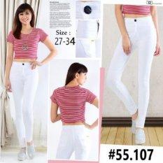 Master Jeans Celana Wanita Highwaist Putih Size 27 34 Dki Jakarta Diskon 50