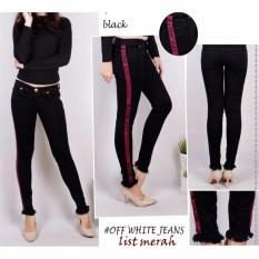 master jeans celana wanita model terbaru list off white