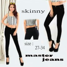Master Jeans Celana wanita skinny- Hitam size 27-34