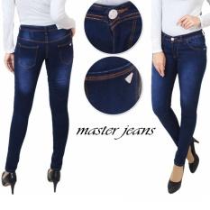 master jeans celana wanita skinny biru whosan