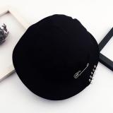 Promo Orang Trendi Topi Jalan Gelang Besi Topi Buket Liar Pria Dan Wanita 5 Pin Cincin Ember Topi Hitam Murah