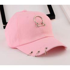 Masuknya orang kasual perempuan liontin topi baseball cap topi (Setengah lingkaran cincin tongkat merah muda)