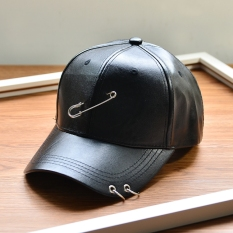 Diskon Masuknya Orang Kulit Baru Pin Besar Topi Baseball Hitam Branded