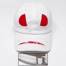 Orang Trendi Topi Pelindung Sinar Matahari Matahari Pria Topi Panggul Hop Karakter Muda (Rakasa Putih