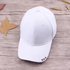 Orang Trendi Topi Gelang Besi Topi Baseball Musim Semi Muda (Papan lampu 3 Cincin (putih))