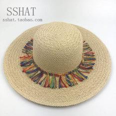 Harga Matahari Korea Fashion Style Musim Panas Topi Jerami Matahari Topi Off White Oem