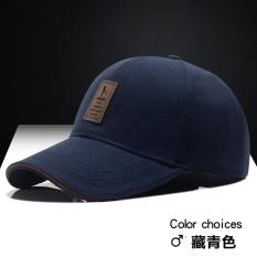 Matahari Korea Fashion Style Musim Panas Topi Topi Baseball Cap Biru Tua Terbaru