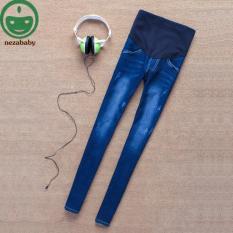 Maternity Jeans Celana untuk Ibu Hamil Menyusui Panjang Celana Jeans Prop Perut Legging Celana Maternity Pakaian M L XL YFK02- INTL