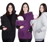 Berapa Harga Maternity Musim Dingin Hangat Fleece Hoodie Jumper Pullover Babywearing Bayi Operator Ungu Di Tiongkok