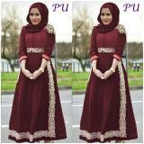 Harga Maxi Dress Brukat Gaun Pesta Modern Kebaya Brukat Maron Manole Ori Gamis Online