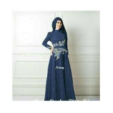 maxi gamis dres hijab Queen rose brukat bordir baju muslim pesta