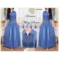 Damai Fashion - Maxi Rample Denim (tanpa belt) - konveksi murah