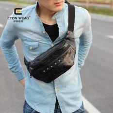 Toko Mungkin Sky Desain Merek Baru Korea Mens Handbag Skull Dada Bag Fashion Leisure Cool Men Pinggang Tas Luar Ruangan Tas Kecil Cool Bag Hitam Msao2Q Warna Seperti Gambar Pertama Intl Lengkap