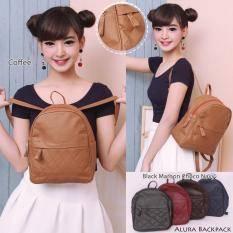 Promo Mynt By Mayonette Tas Ransel Wanita Pu Leather Korean Style Alura Backpack Coklat Akhir Tahun