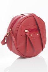 Toko Mynt By Mayonette Tas Wanita Selempang Sling Round Bags Pu Leather Balen Shoulder Merah Mayonette Banten