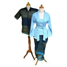 Mayura Batik Sarimbit Batik Couple Kuthu Baru (Biru)