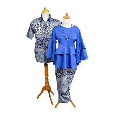 Harga Mayura Batik Sarimbit Batik Couple Rempel Pesta Arden Biru Asli Mayura Batik