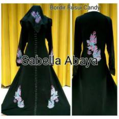 Review Mbv Dress Muslim Abaya Arab Motif Bordir Busui Candy