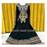 Spesifikasi Mbv Dress Muslim Bordir Akash Coklat Merk Mbv