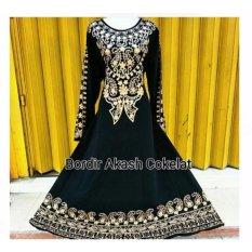 Tips Beli Mbv Dress Muslim Bordir Akash Coklat Yang Bagus