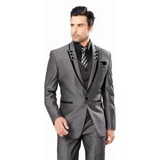 Mc.Marllo - Jas Pria Formal Exclusive Glossy - Jas Prewedding  Jas Pesta  Jas Formal - Jas New Arrival - Jas Limited Edition - Gray Glossy