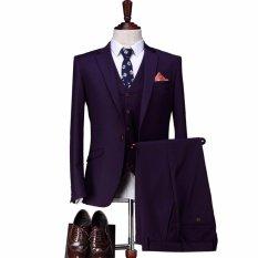 Mc.Marllo - Setelan Jas Formal Prewedding Party (Jas+Vest+Celana) Jas Fashionable / Jas Exclusive / Jas Stylish / Kualitas Tailor - Midnight Blue