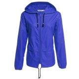Harga Meaneor Wanita S Ringan Tahan Air Outdoor Hoodie Jas Hujan Bersepeda Sport Biru Intl Not Specified Original