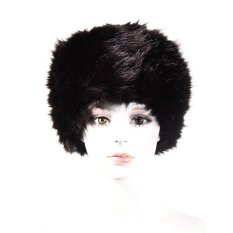 MEGA Faux Fur Cossak Gaya Rusia Hat untuk Wanita Topi Musim Dingin untuk WomenBlack