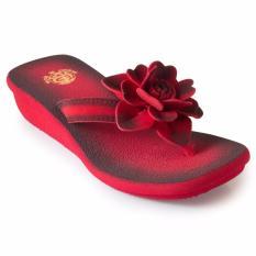 Harga Megumi Sandal Wedges Peony Red Branded
