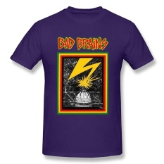 MeiLee Men's Bad Brains Logo Crew Neck T Shirt - intl