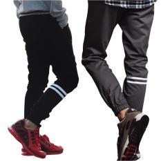 Jogger Strip Sweet Pants Remaja Celana Jogger Panjang Mejikuu