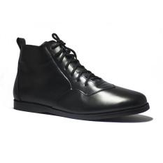 Spesifikasi Mekafa Drillmach Black Sepatu Kulit Premium Pria Using Genuine Leather Terbaru