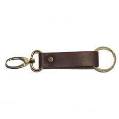 Mekafa Key Chain Leather Brown EX1 - Gantungan Kunci Kulit Coklat