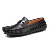 Pusat Jual Beli Memakai Sepatu Kulit Asli Pria Essan Pantofel Hitam Tiongkok