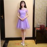 Jual Beli Online Memimpin Pertunjukan Pesta Gaun Kecil Gaun Pengiring Pengantin Ungu Kata Bahu Ungu Kata Bahu Baju Wanita Dress Wanita Gaun Wanita