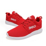 Jual Beli Online Pria Wanita Sepatu Laki Laki Nyaman Sepatu Mesh Breathable Women Fashion Sepatu Sepatu Lari Merah