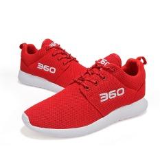 Harga Pria Wanita Sepatu Laki Laki Nyaman Sepatu Mesh Breathable Women Fashion Sepatu Sepatu Lari Merah Oem Ori