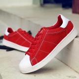 Jual Pria Wanita Asli Superstar Sneaker Skater Sepatu Pu Kulit Bernapas Kasual Sepatu Merah Branded
