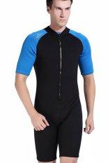 Jual Pria 2Mm Neoprene Pakaian Selam Snorkeling Scuba Diving Suit Swimsuit Lengan Pendek Surf Suit Dark Blue Intl Murah Di Tiongkok
