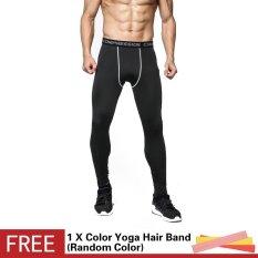 Pria 3D Dicetak Workout Olahraga Tights Legging Fitness Football Basket Menjalankan Celana Kompresi Elastis Cepat Kering Celana-Intl