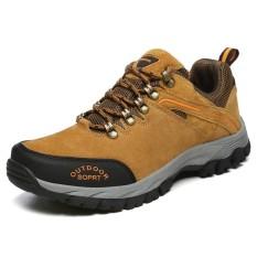 Review Pria Anti Skid Hiking Sepatu Bernapas Nyaman Outdoors Sepatu Plus Ukuran 39 49 Intl