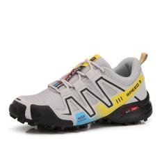 Review Terbaik Pria Anti Skid Hiking Sepatu Kepribadian Luminous Bernapas Nyaman Outdoors Sepatu Plus Ukuran 39 46 Intl