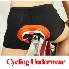 Pria Sepeda Sepeda Pendek Underwear Celana 3D Padded Coolmax-Intl (Black Int:L)