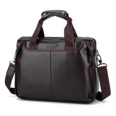 Spesifikasi Pria Bisnis Pu Kulit Tas Tas Bahu Messenger Laptop Satchel Bag Intl Paling Bagus