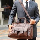 Harga Pria Bisnis Vintage Tas Laptop Briefcase Kapasitas Besar Horizontal Handbag Travel Bag Intl Original