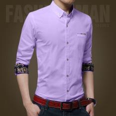 Spesifikasi Pria Kasual Bisnis Formal Dress Shirt Lengan Panjang Pria Solid Slim Fit Shirt Intl Oem Terbaru