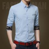 Spesifikasi Pria Kasual Bisnis Formal Dress Shirt Lengan Panjang Pria Solid Slim Fit Shirt Intl Terbaik