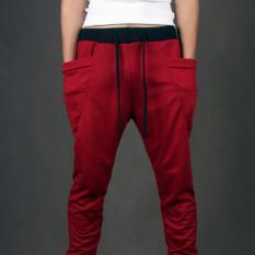 Harga Celana Pria Casual Desain Keren Kantong Besar Merek Pakaian Tentara Celana Celana Hip Hop Mens Joggers Xxl Merah Intl Termurah