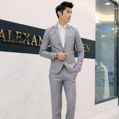 Toko Pria Klasik Bisnis Suit Fashion Casual Dress Setelan 2 Pieces Suit Jacket Pant Solid Berkualitas Tinggi Suits Intl Yang Bisa Kredit